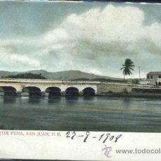 Postales: BRIDGE AT MARTIN PENA, SAN JUAN (PUERTO RICO). Lote 37117527