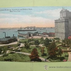 Postales: WHITEHALL BUILDING, AQUARIUM AND BATTERY PARK, NEW YORK CITY.. Lote 38036559