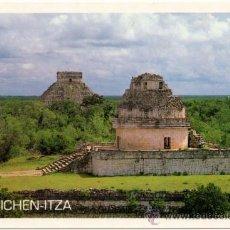 Postales: CHICHEN-ITZA, YUCATÁN, MÉXICO.- OBSERVATORIO Y PIRÁMIDE DE KUKULCÁN.. Lote 38701917