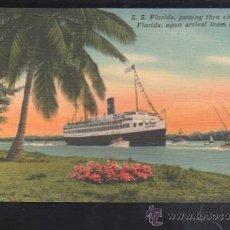 Postales: TARJETA POSTAL DE HABANA, CUBA - S.S. FLORIDA LLEGANDO A LA HABANA. 504.. Lote 39185028