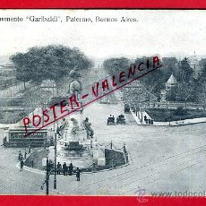 Postales: POSTAL BUENOS AIRES, ARGENTINA, MONUMENTO GARIBALDI, PALERMO, P79957. Lote 39472884