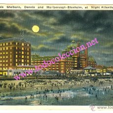 Postales: PHILADELPHIA - HOTELS SHELBURN. DENNIS AND MALBOROUGH - BLENHEIM, ATLANTIC CITY (1925) EN COLOR. Lote 8284909