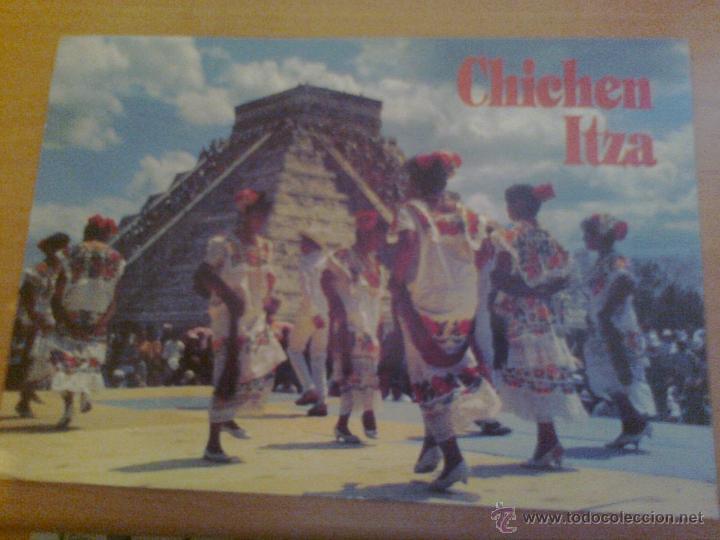 PRECIOSA POSTAL CIRCULADA 1995 CHICHEN ITZA MEXICO PIRAMIDE EQUINOCCIO EDITORA KUKULCAN CON SELLO (Postales - Postales Extranjero - América)