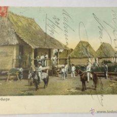 Postales: CUBA. ALDEA CUBANA. (CIRCULADA EN 1904. HABANA, CUBA - BARCELONA). Lote 39842786