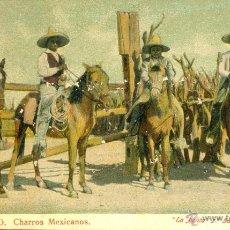 Postales: MEXICO. CHARROS MEXICANOS. POSTAL COLOR, SIN CIRCULAR, C. 1905. Lote 40178773