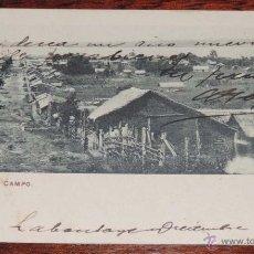 Postales: POSTAL DE PUEBLO DE CAMPO (ARGENTINA) , ESCRITA. Lote 40198838