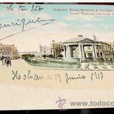 Postales: ANTIGUA POSTAL CUBA - HABANA - PRADO MALECON Y AVENIDA DEL GOLFO - CIRCULADA - ED. JORDI.. Lote 38236267