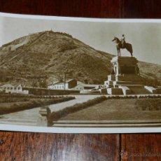 Cartoline: ANTIGUA FOTO POSTAL, SANTIAGO DE CHILE, MONUMENTO AL GENERAL BAQUEDANO, SIN CIRCULAR, OLD PHOTO POST. Lote 38279729