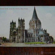 Postales: ANTIGUA FOTO POSTAL, NUEVA YORK, CATEDRAL DE SAN JUAN EL DIVINO, SIN CIRCULAR, NEW YORK, CATHEDRAL O. Lote 38279961
