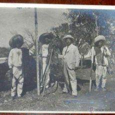Postales: ANTIGUA FOTOGRAFIA DE CUERNAVACA (MEXICO) HACIENDA DE SAN CARLOS, MORELOS, 1908, MIDE 17 X 12 CMS. E. Lote 38284139