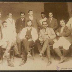 Postales: ANTIGUA FOTOGRAFIA ALBUMINA DE MEXICO, 1900 APROXIMADAMENTE, GRUPO DE JEFES Y CAPATACES DE UNA HACIE. Lote 38284171