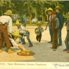 Postales: MÉXICO. TIPOS POPULARES. EXENOS POPULARES (?). POSTAL COLOR, SIN CIRCULAR, C. 1905. Lote 40274420