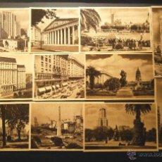 Postales: LOTE DE 11 POSTALES NUEVAS DE BUENOS AIRES. AÑOS 50. ED. SCHUMACHER. VER FOTOGRAFIAS. Lote 40413280