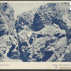 Postales: PASO DE USPALLATA - SALTO DEL SOLDADO - REVERSO SIN DIVIDIR - (19707). Lote 41812955