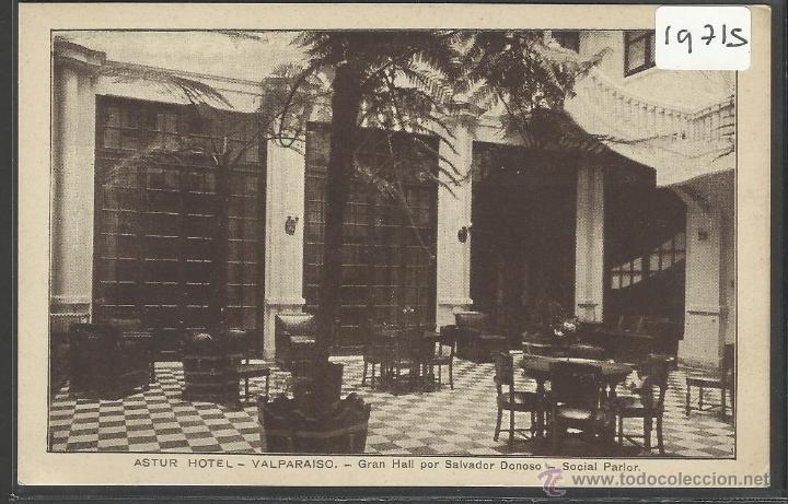 VALPARAISO - ASTUR HOTEL - GRAN HALL POR SALVADOR DONOSO (19715) (Postales - Postales Extranjero - América)