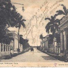 Postales: PS3653 MATANZAS 'QUINTAS DE LA PLAYA'. SIN REFERENCIAS Y CIRCULADA EN 1921. Lote 41889316