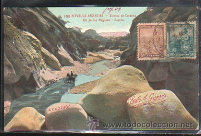 TARJETA POSTAL REPUBLICA ARGENTINA - SIERRAS DE CORDOBA. DIRIGIDA DESDE ARGENTINA A MATANZAS, CUBA (Postales - Postales Extranjero - América)