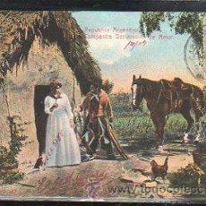 Postales: TARJETA POSTAL REPUBLICA ARGENTINA. CAMPESTRE DECLARACION. DIRIGIDA DESDE ARGENTINA A MATANZAS, CUBA. Lote 42517079