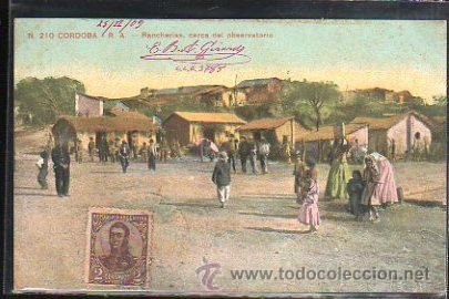 TARJETA POSTAL CORDOBA, ARGENTINA - RANCHERIAS. DIRIGIDA DESDE ARGENTINA A MATANZAS, CUBA (Postales - Postales Extranjero - América)