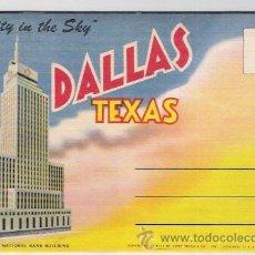 Postales: DALLA -TEXAS -ACORDEON DE 12 IMAGENES. Lote 42667750