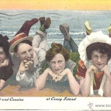 Postales: PS4359 POSTAL 'BILLY BASHFUL AND COUSIS AT CONEY ISLAND'. 1908. Lote 42757081