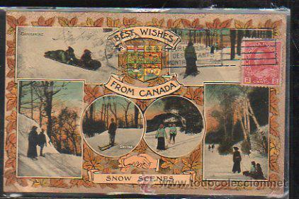 TARJETA POSTAL DE CANADA - SNOW SCENES. CIRCULADA A MATANZAS, CUBA (Postales - Postales Extranjero - América)