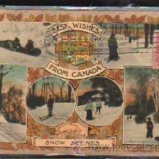 Postales: TARJETA POSTAL DE CANADA - SNOW SCENES. CIRCULADA A MATANZAS, CUBA. Lote 42823038