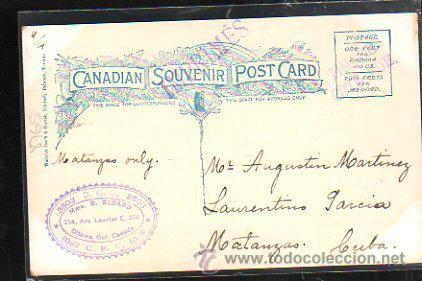 Postales: TARJETA POSTAL DE TEN DAY'S SPORT IN HIGHLANDS OF CANADA. CIRCULADA A MATANZAS, CUBA - Foto 2 - 42823315