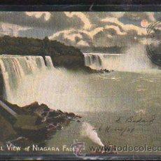Postales: TARJETA POSTAL DE GENERAL VIEW OF NIAGARA FALLS. CIRCULADA A MATANZAS, CUBA. Lote 42823434