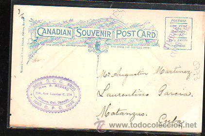 Postales: TARJETA POSTAL DE BEAR HUNTING IN CANADA. A GOOD SHOT. CIRCULADA A MATANZAS, CUBA - Foto 2 - 42823453