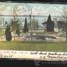 Postales: TARJETA POSTAL DE SEATTLE - WASH. LESCHI PARK. 5561. CIRCULADA A MATANZAS, CUBA. Lote 42824327