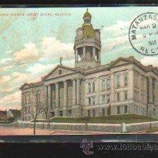 Postales: TARJETA POSTAL DE SEATTLE - KING COUNTY COURT HOUSE. CIRCULADA A MATANZAS, CUBA. Lote 42824364