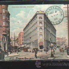 Postales: TARJETA POSTAL DE SEATTLE - PIONEER SQUARE. CIRCULADA A MATANZAS, CUBA. Lote 42824633