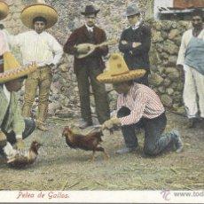 Postales: MEXICO. PELEA DE GALLOS. POSTAL COLOR, SIN CIRCULAR, C. 1910. . Lote 42961829