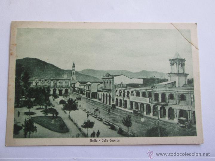 SALTA CALLE CASEROS ARGENTINA CIRCA 1915 (Postales - Postales Extranjero - América)