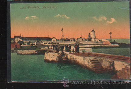 TARJETA POSTAL DE MONTEVIDEO, URUGUAY - ISLA DE FLORES. 405. A.CARLUCCIO (Postales - Postales Extranjero - América)