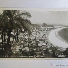 Postales: 66 RIO DE JANEIRO BRASIL PRAIA DO LEBLON FOTO POSTAL COLOMBO. Lote 43245631