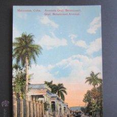 Postales: POSTAL CUBA. MATANZAS. AVENIDA GENERAL BETANCOURT. . Lote 44441373