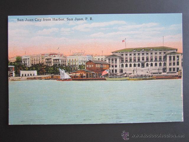 POSTAL PUERTO RICO. SAN JUAN CITY FROM HARBOR. SAN JUAN P.R. (Postales - Postales Extranjero - América)