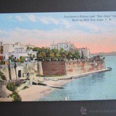 Postales: POSTAL PUERTO RICO. GOVERNOR´S PALACE AND SAN JUAN GATE. . Lote 44445428