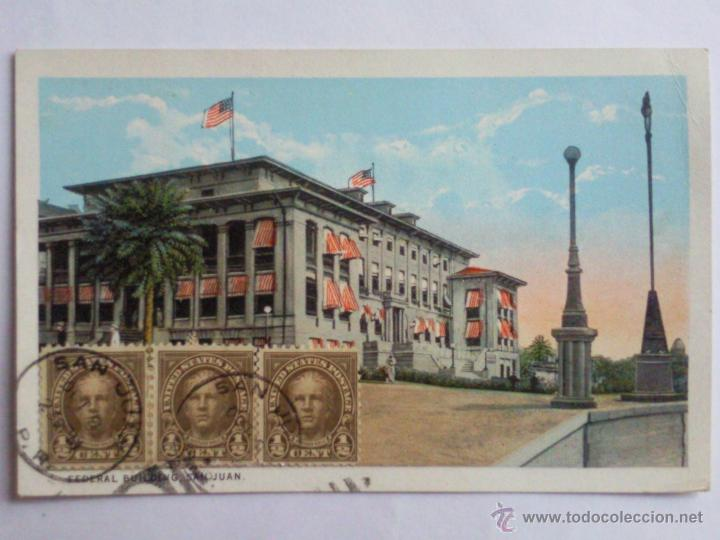 POSTAL PUERTO RICO, EDIFICIO FEDERAL SAN JUAN, AÑO 30 (Postales - Postales Extranjero - América)
