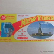 Postales: NEW YORK. 10 POST CARDS 10 MINIATURES. Lote 44755797
