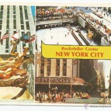 Postales: POSTAL ANTIGUA NEW YORK - ROCKEFELLER CENTER. Lote 45457325