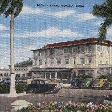 Postales: POSTAL CUBA: JOCKEY CLUB HAVANA. Lote 45547870
