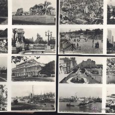 Postales: BUENOS AIRES (ARGENTINA). 10 POSTALES, CON 40 VISTAS, BLANCO Y NEGRO, C. 1950-1960. VER IMAGENES.. Lote 45562976
