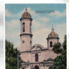 Postales: TARJETA POSTAL CUBA. CIENFUEGOS CATHEDRAL. Nº 73.. Lote 45565757