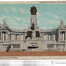 Postales: TARJETA POSTAL CUBA. HABANA. MONUMENTO A JOSE MIGUEL GOMEZ.. Lote 45566689
