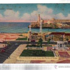 Postales: TARJETA POSTAL CUBA. HAVANA. MORRO CASTLE'S VIEW FROM THE PACKARD HOTEL.. Lote 45567264
