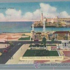 Postales: TARJETA POSTAL HAVANA CUBA, MORRO CASTLE´S VIEW FROM THE PACKARD HOTEL. Lote 45581892
