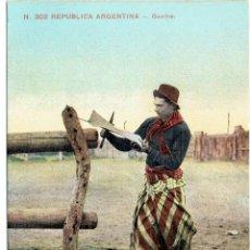 Postales: PS4940 REPÚBLICA ARGENTINA 'GAUCHO'. EDICIÓN Z. CIRCULADA EN 1911. Lote 45796240